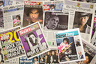 British Newspaper Front Pages following the death of Prince