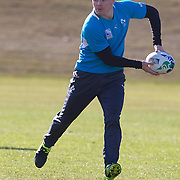 """Brian O""""Driscoll training with the Irish team at The Queenstown Events Centre in preparation for the IRB Rugby World Cup.  Queenstown, New Zealand, 7th September 2011. Photo Tim Clayton..."""
