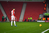 Danny Andrew of Doncaster Rovers (3) sets himself to take a free kick during the EFL Sky Bet League 1 match between Doncaster Rovers and Scunthorpe United at the Keepmoat Stadium, Doncaster, England on 15 December 2018.