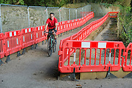 The landslip between Grindleford and Eyam, now closed to vehicles, makes a great cyclepath!