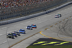 April 29, 2018 - Talladega, Alabama, United States of America - Jimmie Johnson (48) brings his race car down the front stretch during the GEICO 500 at Talladega Superspeedway in Talladega, Alabama. (Credit Image: © Chris Owens Asp Inc/ASP via ZUMA Wire)