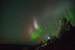 September 15, 2017 - Auroral arc, Nickel Plate Provincial Park, Penticton, British Columbia, Canada (Credit Image: © Preserved Light Photography/Image Source via ZUMA Press)