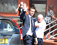 06/06/14<br /> CELTIC PARK - GLASGOW<br /> New Celtic manager Ronny Deila makes his way into Celtic Park.