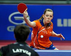 08-05-2011 TAFELTENNIS: WORLD TABLE TENNIS CHAMPIONSHIPS: ROTTERDAM<br /> Britt Eerland NED<br /> ©2011-FotoHoogendoorn.nl