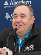 The Aberdeen Asset Management Scottish Open Golf Championship 2012 At Castle Stuart Golf Links..Final Round Saturday 14-07-12.. .Press ocnference on the Future of the Scottish Open,  with First Minster Alex Salmond,  George O' Grady of The European Tour, Martin Gilbert Chief Exec of Aberdeen Asset management and Roger Conrhill of Aberdeen Asset Managent, , during the FinalRound of The Aberdeen Asset Management Scottish Open Golf Championship 2012 At Castle Stuart Golf Links. The event is part of the European Tour Order of Merit and the Race to Dubai....At Castle Stuart Golf Links, Inverness, Scotland...Picture Mark Davison/ ProLens PhotoAgency/ PLPA.Saturday 14th July 2012.