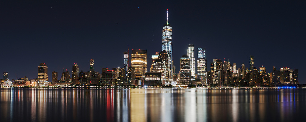 One World Trade Center. As seen from New Jersey.