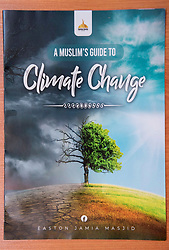 © Licensed to London News Pictures; 23/09/2021; Bristol, UK. The Easton Jamia Mosque has created a Muslim's Guide to Climate Change. The booklet, authored by Abdul Malik Chairman of the Easton Jamia Mosque is thought to be the first in the UK. The Mosque has an exhibition inside the Mosque as part of a day of action to unite the local community for a common cause, to understand human causes of climate change and to campaign and take action against climate change. The event is part of a national initiative called the Great Big Green Week with more than 4,500 events, organised by environmental charities collectively known as The Climate Coalition. Photo credit: Simon Chapman/LNP.