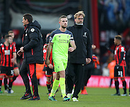 Liverpool's Jordan Henderson and Jurgen Klopp look on dejected at the final whistle during the Premier League match at the Vitality Stadium, London. Picture date December 4th, 2016 Pic David Klein/Sportimage