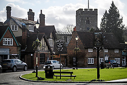 © Licensed to London News Pictures. 11/02/2020. Chalfont St Giles, UK. The picturesque village of Chalfont St Giles in Buckinghamshire which will be directly affected by government plans to push ahead with the HS2 (High Speed 2) railway. Photo credit: Ben Cawthra/LNP