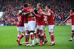 Famara Diedhiou of Bristol City celebrates scoring a goal with team mates - Mandatory by-line: Dougie Allward/JMP - 10/02/2018 - FOOTBALL - Ashton Gate Stadium - Bristol, England - Bristol City v Sunderland - Sky Bet Championship