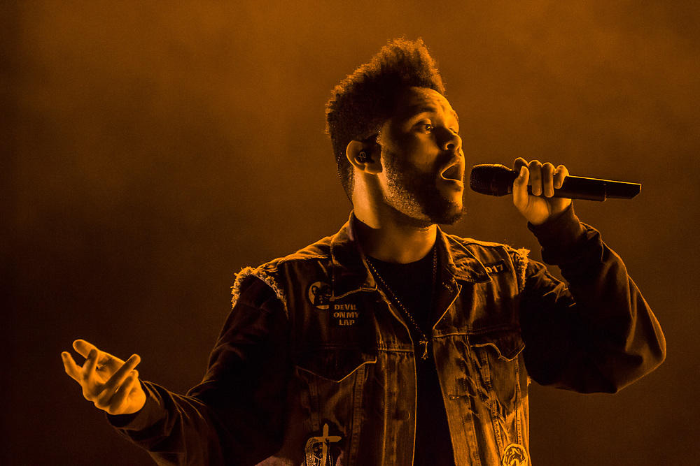 The Weeknd performs at Bonnaroo in Manchester, TN on June 11, 2017.