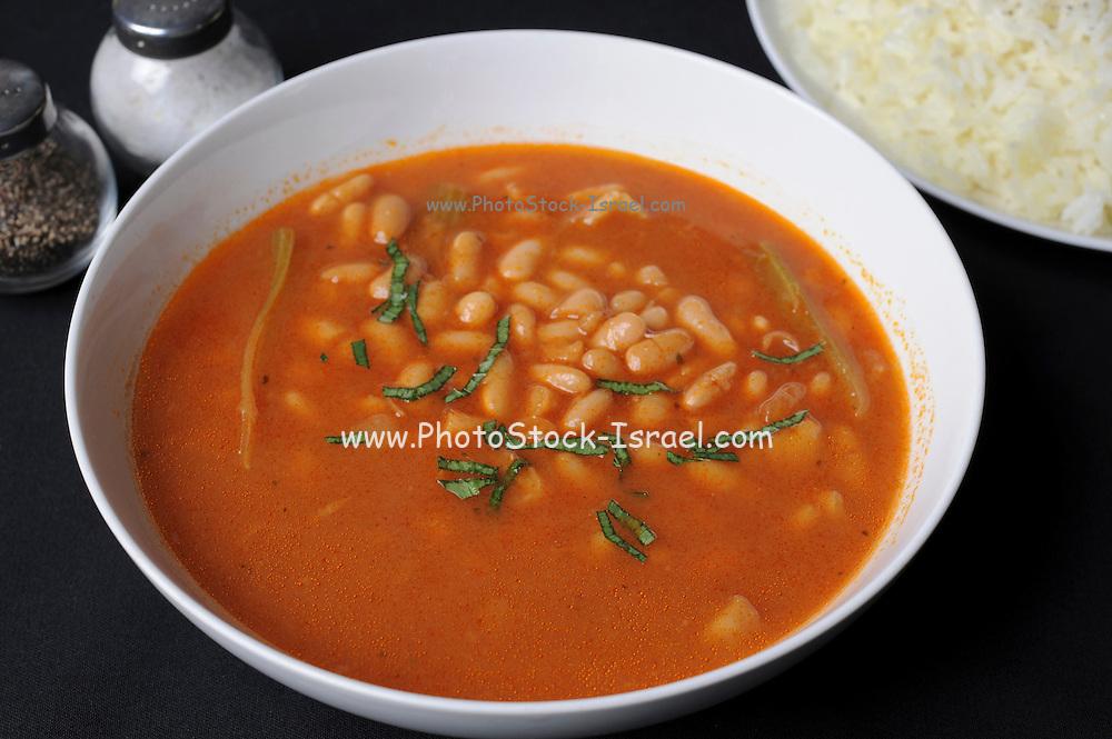 a bowl of Bean soup