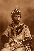 Wilson Barrett (1846-1904) English actor-manager,  most successful in melodrama. Here in title role in the tragedy 'Othello or the Moor of Venice' by William Shakespeare.  Photogravure published London c1895.