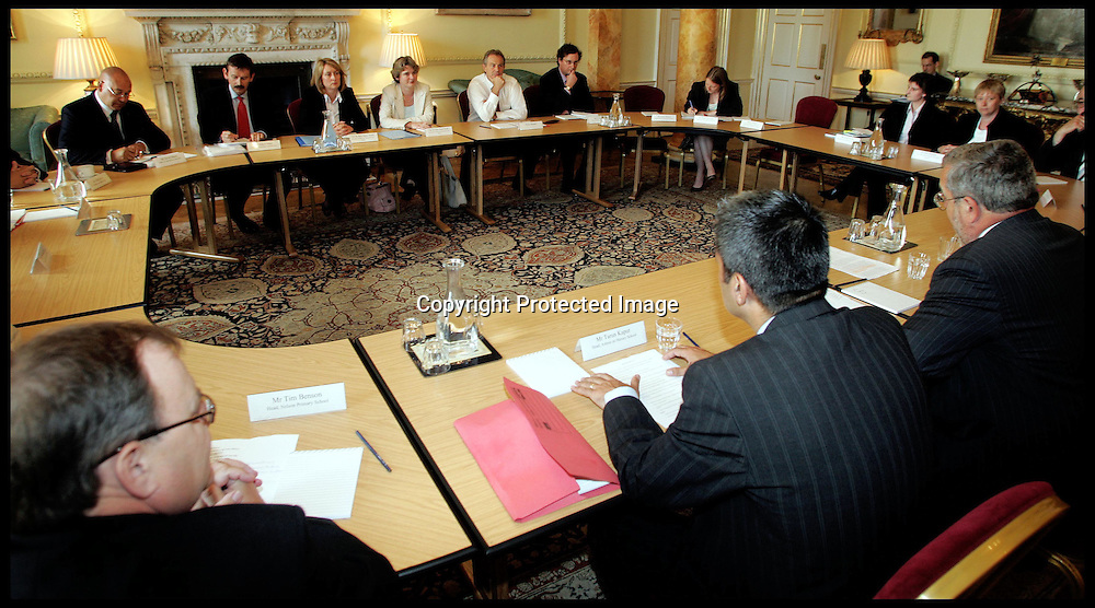The British Prime minister Tony Blair and  Ruth Kelly sec of state for education and skills hold a meeting with group of head teachers as part of School Discipline and behaviour spearhead group.PA Photo Andrew PArsons POOL