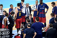 FCB Lassa's team during time-out of Quarter Finals match of 2017 King's Cup at Fernando Buesa Arena in Vitoria, Spain. February 17, 2017. (ALTERPHOTOS/BorjaB.Hojas)