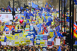 March 23, 2019 - London, London, UK - London, UK.  Protesters take part in a People's Vote protest march in central London today, to demand a people's vote (second referendum) on whether Britain should remain in the European Union. Prime Minister, Theresa May has negotiated an extension to the Brexit timetable with the European Union and is now expected to hold a third meaningful vote on her Brexit deal in parliament next week. (Credit Image: © Vickie Flores/London News Pictures via ZUMA Wire)