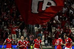 September 12, 2017 - Lisbon, Portugal - Benfica players celebrating their goal during the Champions League  football match between SL Benfica and CSKA Moskva at Luz  Stadium in Lisbon on September 12, 2017. (Credit Image: © Carlos Costa/NurPhoto via ZUMA Press)