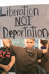 September 5, 2017 - Santa Ana, California, U.S - Hundreds took to the street of downtown Santa Ana to protest the removal of DACA. (Credit Image: © Kevin Warn via ZUMA Wire)