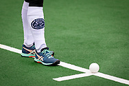 LAREN -  Hockey Hoofdklasse Dames: Laren v Pinoké, seizoen 2020-2021. Foto: Kousen Pinoké met Asics schoenen