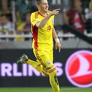 Romania's celebrates his goal Gheorghe Teodor Grozav during their FIFA World Cup 2014 qualifying soccer match Turkey betwen Romania at Sukru Saracoglu stadium in Istanbul october 12, 2012. Photo by TURKPIX