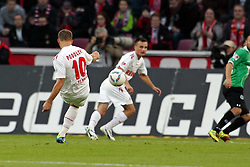 16.10.2011,  Rhein Energie Stadion, Koeln, GER, 1.FBL, 1. FC Koeln vs Hannover 96 ,im Bild.Schuss zum 1:0 von Lukas Podolski (Koeln #10)..// during the 1.FBL, 1. FC Koeln vs Hannover 96 on 2011/10/16, Rhein-Energie Stadion, Köln, Germany. EXPA Pictures © 2011, PhotoCredit: EXPA/ nph/  Mueller *** Local Caption ***       ****** out of GER / CRO  / BEL ******