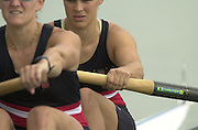 2003 - FISA World Cup Rowing Milan Italy.30/05/2003  - Photo Peter Spurrier.USA W2- (B) Dana Peirce and (S) Jennifer Dore Terhaar. Equipment. [Mandatory Credit: Peter Spurrier:Intersport Images]