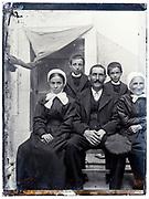 three generation rural farmer family portrait France early 1900s