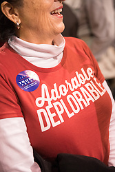 October 28, 2016 - Manchester, NH, USA - A supporter of Donald Trump, the republican candidate for president of the United States, during a campaign stop at the Armory Ballroom in the Radisson Hotel in Manchester, NH. (Credit Image: © Bryce Vickmark via ZUMA Wire)
