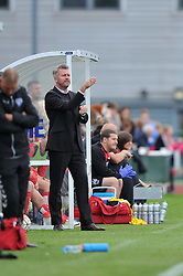 Willie Kirk manager of Bristol City Women directs his players from the touch line at Stoke Gifford Stadium - Mandatory by-line: Paul Knight/JMP - 24/09/2016 - FOOTBALL - Stoke Gifford Stadium - Bristol, England - Bristol City Women v Durham Ladies - FA Women's Super League 2