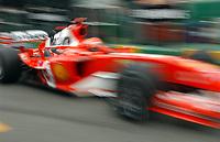 Formel 1, AUTO - F1 2004 - AUSTRALIA GP - MELBOURNE 20040307 - PHOTO : ERIC VARGIOLU / DPPI<br /> N¡ 1 - MICHAEL SCHUMACHER (GER) / FERRARI - ACTION