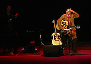 Richie Havens looks out into the crowd before playing at Bethel Woods Center for the Arts on Aug. 17, 2007.