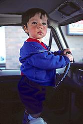 Little Boy In Car