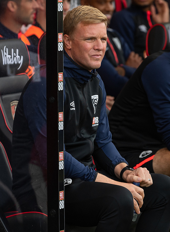 Bournemouth manager Eddie Howe <br /> <br /> Photographer David Horton/CameraSport<br /> <br /> The Premier League - Bournemouth v Leicester City - Saturday 15th September 2018 - Vitality Stadium - Bournemouth<br /> <br /> World Copyright © 2018 CameraSport. All rights reserved. 43 Linden Ave. Countesthorpe. Leicester. England. LE8 5PG - Tel: +44 (0) 116 277 4147 - admin@camerasport.com - www.camerasport.com