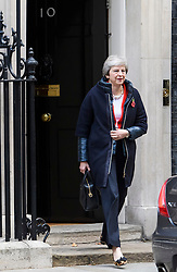 © Licensed to London News Pictures. 29/10/2018. London, UK. British Prime Minister THERESA MAY leave 10 Downing Street in London before Chancellor PHILIP HAMMOND delivers his Budget to Parliament. This will be the last budget before the UK is due to exit the European Union in March of 2019. Photo credit: Ben Cawthra/LNP