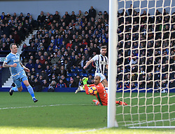 4 February 2017 - Premier League - West Bromwich Albion v Stoke City - James Morrison of West Bromwich Albion scores the opening goal (1-0) - Photo: Paul Roberts / Offside