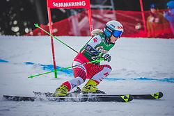 28.12.2018, Panoramapiste, Semmering, AUT, FIS Weltcup Ski Alpin, Riesenslalom, Damen, 1. Lauf, im Bild Eva-Maria Brem (AUT) // Eva-Maria Brem of Austria in action during her 1st run of ladie's Giant Slalom of FIS ski alpine world cup at the Panoramapiste in Semmering, Austria on 2018/12/28. EXPA Pictures © 2018, PhotoCredit: EXPA/ Dominik Angerer