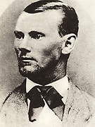 Jesse Woodson James (1847-1882), American outlaw and bank and train robber who, with his brother Frank, was a member of the James-Younger gang.