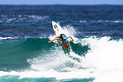 Shino Matsuda will surf in Round Two of the2018 Jeep World Junior Championship after placing second in Heat 3 of Round One at Kiama, NSW, Australia. . FOR EDITORIAL NEWS USE ONLY
