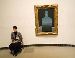 Interior of Yokohama Art Museum in Japan
