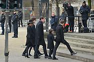 20.02.2018. Copenhagen, Denmark. <br /> Princess Marie, Prince Joacim, Prince Nikolai, Princess Athena, Prince Henrik and  Prince Felix arrive to Christiansborg Palace Church. <br /> Photo: Ricardo Ramirez.