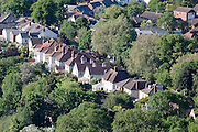 A row of suburban houses in leafy Leckhampton  Cheltenham Spa Town, Gloucestershire