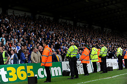 Bristol Rovers fans fill up the away end at Wycombe Wanderers with over 2000 fans - Photo mandatory by-line: Dougie Allward/JMP - Mobile: 07966 386802 26/04/2014 - SPORT - FOOTBALL - High Wycombe - Adams Park - Wycombe Wanderers v Bristol Rovers - Sky Bet League Two