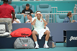 March 23, 2019 - Miami Gardens, Florida, United States Of America - MIAMI GARDENS, FLORIDA - MARCH 23:  Roger Federer on Day 6 of the Miami Open Presented by Itau at Hard Rock Stadium on March 23, 2019 in Miami Gardens, Florida..People: Roger Federer. (Credit Image: © SMG via ZUMA Wire)