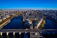 France, Paris (75), zone classée Patrimoine Mondial de l'UNESCO, île de la Cité, la cathédrale Notre-Dame // France, Paris (75), area listed as World Heritage by UNESCO, Ile de la Cite, Notre-Dame cathedral