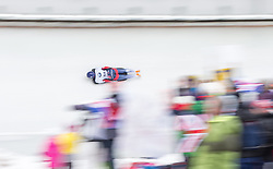 20.02.2016, Olympiaeisbahn Igls, Innsbruck, AUT, FIBT WM, Bob und Skeleton, Damen, Skeleton, 3. Lauf, im Bild Donna Creighton (GBR) // Donna Creighton of United Kingdom competes during women Skeleton 3rd run of FIBT Bobsleigh and Skeleton World Championships at the Olympiaeisbahn Igls in Innsbruck, Austria on 2016/02/20. EXPA Pictures © 2016, PhotoCredit: EXPA/ Johann Groder