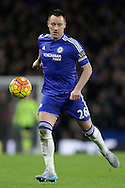 John Terry, the Chelsea captain in action. Barclays Premier league match, Chelsea v Manchester Utd at Stamford Bridge in London on Sunday 7th February 2016.<br /> pic by John Patrick Fletcher, Andrew Orchard sports photography.