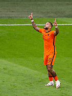 Memphis Depay of the Netherlands celebrates after scoring his sides first goal during the UEFA Euro 2020, Group C football match between Netherlands and Austria on June 17, 2021 at the Johan Cruijff ArenA in Amsterdam, Netherlands - Photo Marcel ter Bals / Orange Pictures / ProSportsImages / DPPI