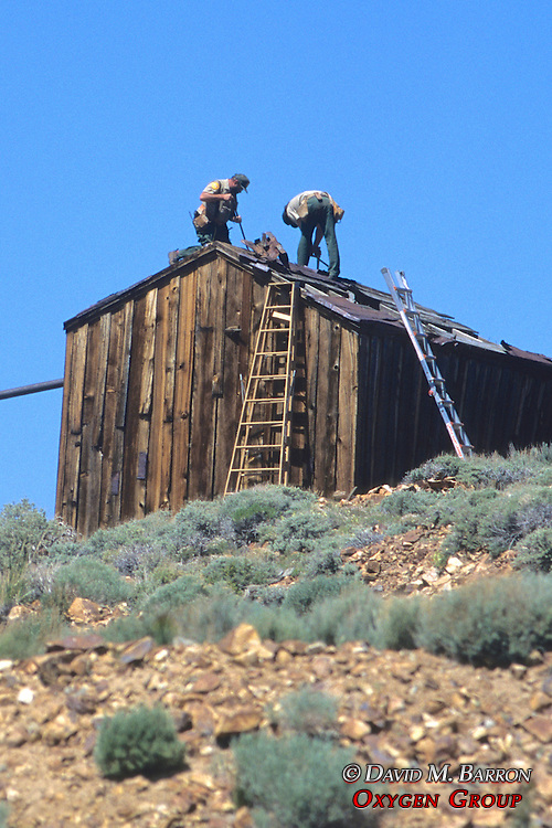 National Park Employees Fixing Structure