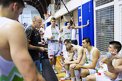 Jure Zdovc, head coach of Slovenia talking to players during friendly basketball match between National teams of Slovenia and Ukraine at day 3 of Adecco Cup 2014, on July 26, 2014 in Rogaska Slatina, Slovenia. Photo by Vid Ponikvar / Sportida.com