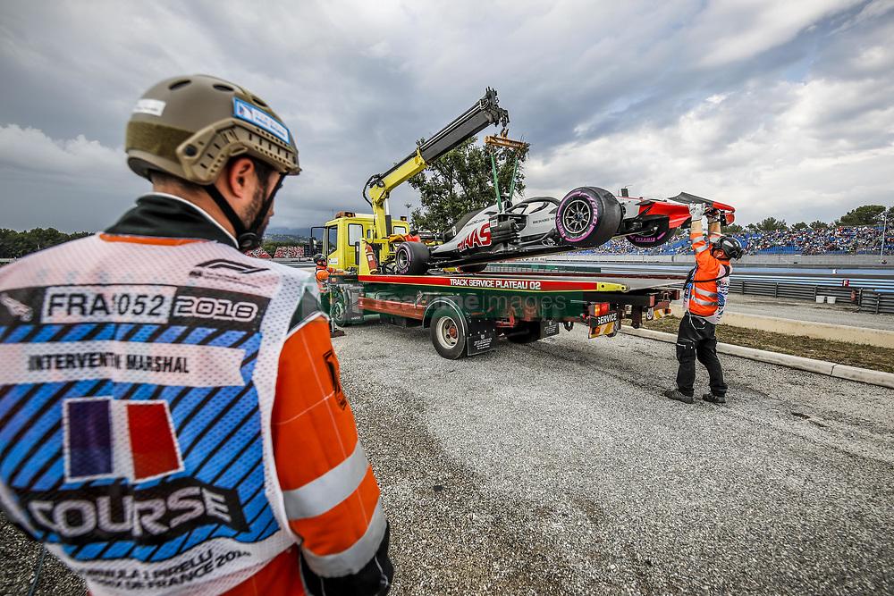 June 23, 2018 - Le Castellet, France - Motorsports: FIA Formula One World Championship 2018, Grand Prix of France, .#8 Romain Grosjean (FRA, Haas F1 Team) (Credit Image: © Hoch Zwei via ZUMA Wire)